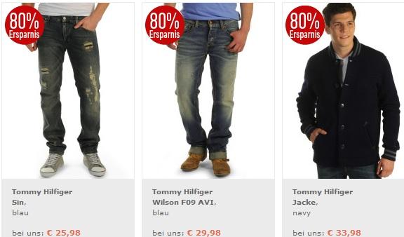 Nur heute! 70% auf viele ausgewählte Marken Artikel bei dfl (Hilfiger Jeans ab 29€)