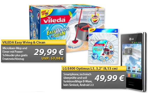 OHA Deals! (LG E400 Optimus L3 (B Ware) & VILEDA Easy Wring & Clean)