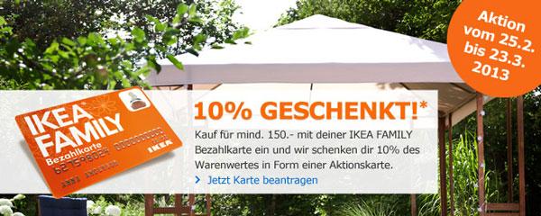 10% Rabatt bei IKEA bei Einkauf ab 150€