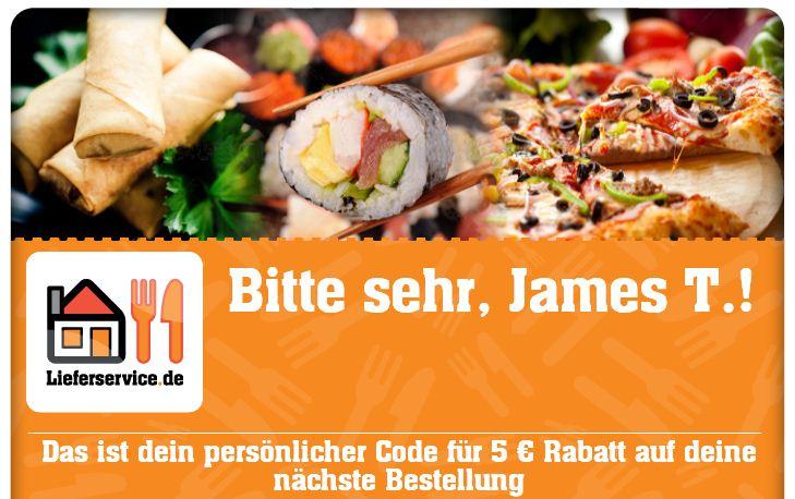 [Lieferservice.de] Update! Neuer code! 5€ Gutschein nur über Facebook (MBW10,01€), für Neu und Bestandskunden!