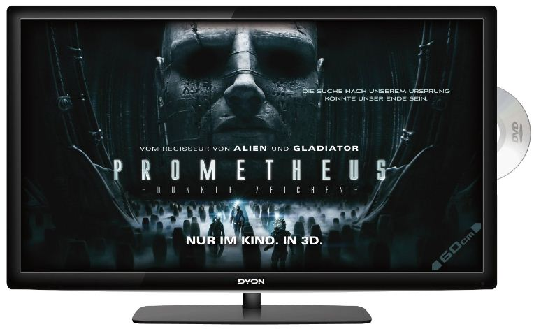[Amazon] TV Deal des Tages: 24 Dyon TAV 60cm (Full HD, DVB C/ T, CI+, DVD Player), inkl. Versand 222€