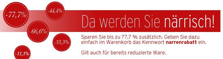 [Karstadt] Faschingsknaller bis 77,7% Rabatt!
