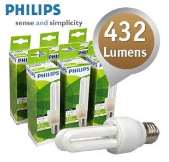 [iBOOD] Energiesparlampen Set: Philips 6er Pack 9 Watt, 432 Lumen, 2700 K inkl. Versand 15,90€
