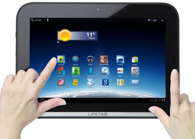 [ebay Wow] Multitouch Tablet PC: 10,1 MEDION LIFETAB 25,4cm, 1GB, 32GB, 3G, WLan, inkl. Versand  279€