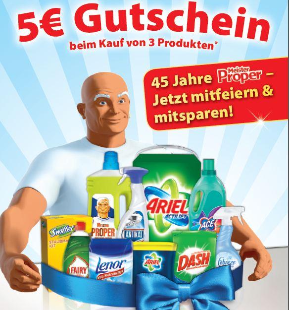 3 Aktionsprodukte kaufen für min 5€ und dafür 5€ Gutschein kassieren!
