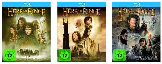 [Amazon] Blu Ray: Der Herr der Ringe inkl. Versand nur 21€ (Aktion 3 Blu rays zum Preis von 21€)