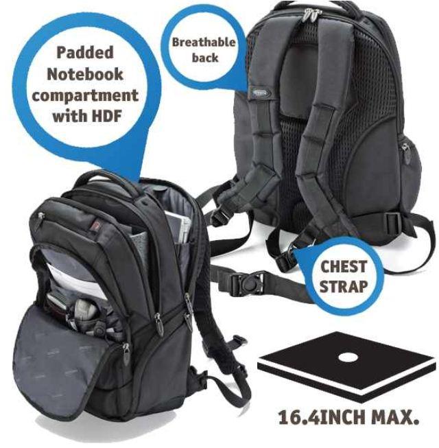 [iBOOD] 15,4   16.4 Notebook Rucksack: Dicota, BacPac Challenge inkl. Versand 35,90€