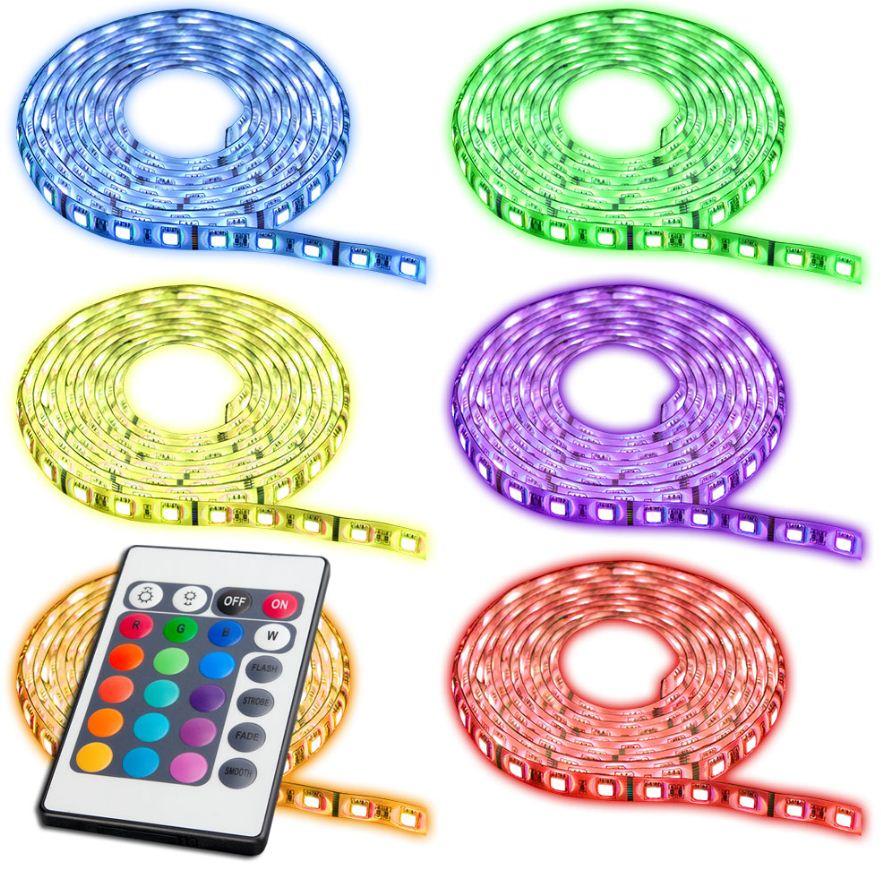[ebay Wow] 5m LED SMD flexible Lichtleiste, inkl. Netzteil, Fernbedienung und Versand nur 25,99€