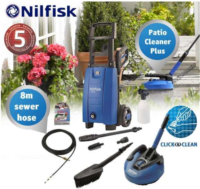 [iBOOD] Hochdruckreiniger: Nilfisk C120.6 6 PAD X Tra, 120Bar, 5 Jahre Garantie mit Zubehör, inkl. Versand 128,90€