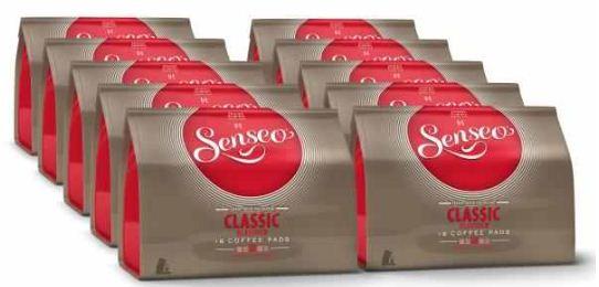 [ebay Wow] Kaffeepads: Senseo, 10er Pack, (160 Pads, 3 Geschmackssorten) je inkl. Versand 15,99€