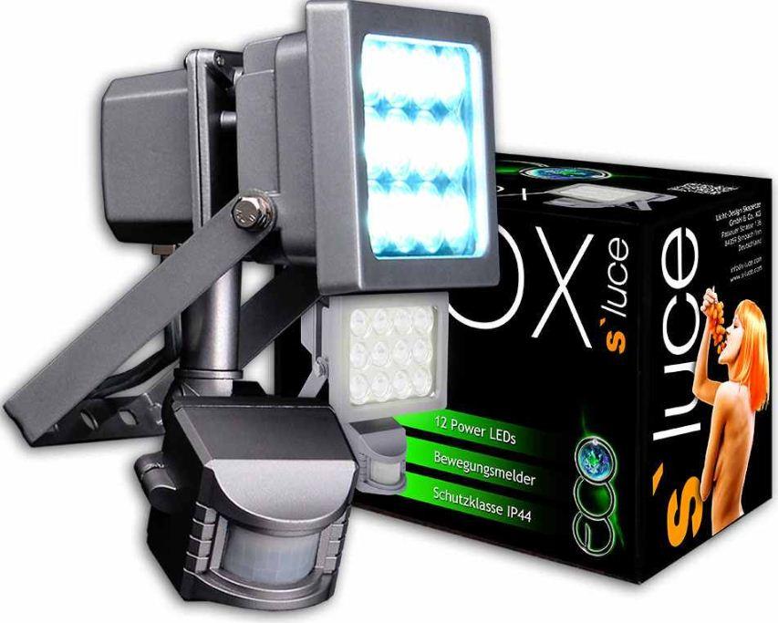 [ebay Wow] LED Bewegungsmelder mit Flutlichtstrahler: s`luce eco LEDOX  mit 12xPower LED, inkl. Versand 29,99€