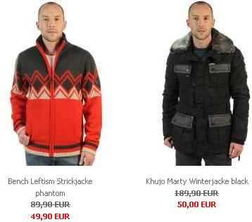[kolibrishop.com] WSV Aktion: 5.000 Jacken wie Bench, Khujo und viele andere für 50€!