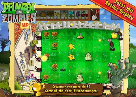 Pflanzen vs Zombies für iPhone gratis!