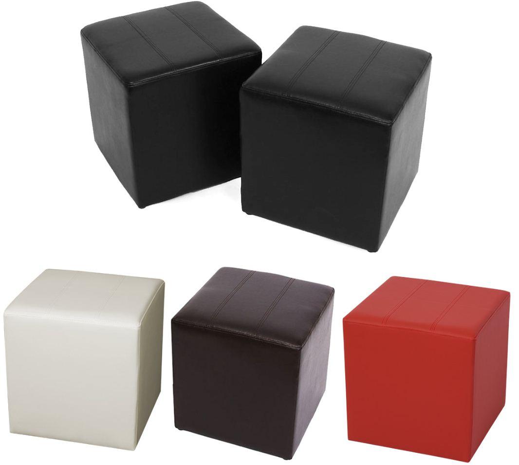 [ebay Wow] 2x Sitzhocker: Paris, Kunstleder, 40x38x38cm (schwarz, braun, creme, bordeaux) inkl. Versand 36,66€