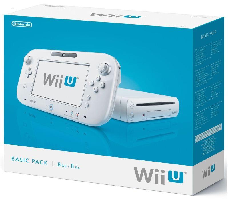 Nintendo Wii U Basic Pack + USB Stick + 15€ Rabatt auf ein Spiel für 199€