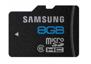 microSDHC Karte Samsung Essential, 8GB Class6, inkl. Versand nur 5,80€