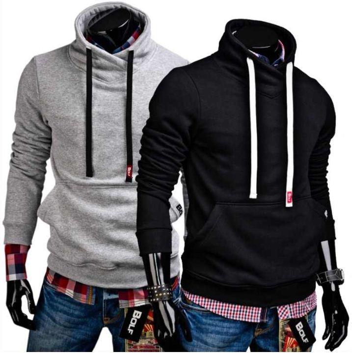 BOLF Herren Sweatshirt, zwei Farben mit Hochkragen inkl. Versand 19,50€