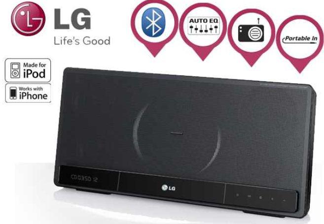 LG iPod / iPad Aluminium Docking Station mit Micro CD und Bluetooth, inkl. Versand 138,90€