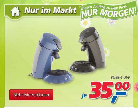 Heute Kaffee Padautomat Senseo HD 7810 für 35€