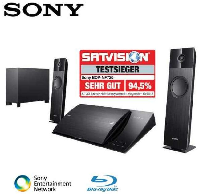 Sony BDV NF720 Home 2.1 Entertainment System, mit Full HD 3D Blu ray Disc Player, nur 349,95€