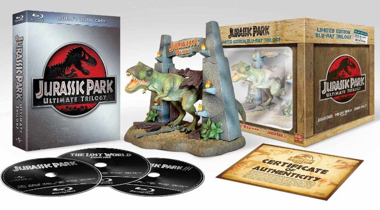 Jurassic Park Ultimate Blu ray Trilogy in der Limited Collectors Edition inkl. T Rex Figur für 29,97€
