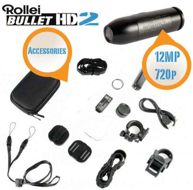 Rollei Bullet HD2 12 Megapixel ActionCam, inkl. Versand 105,90€