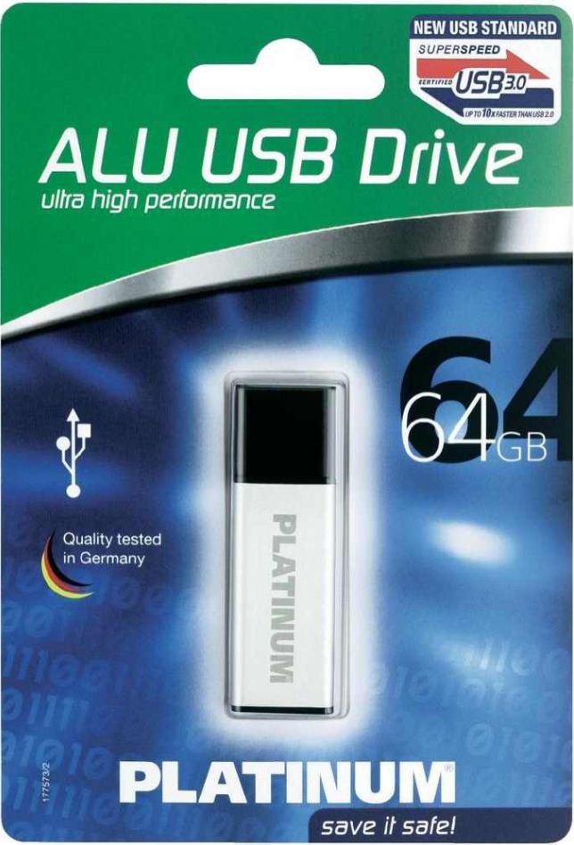 Platinum USB Stick 64GB ALU 3.0, USB 3.0, inkl. Versand 29,90€
