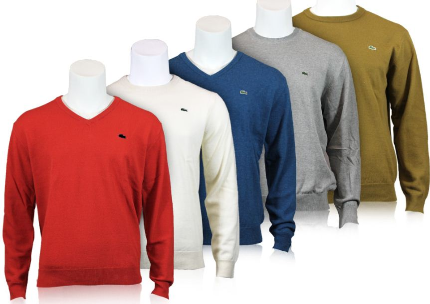 [ebay Wow] Pullover: Lacoste V Neck & Rundhals (Wolle & Baumwolle, Gr. 4 bis 8) inkl. Versand 69,95€