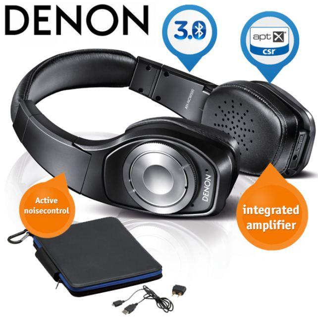 [iBOOD] Luxus Kopfhörer: Denon Wireless mit aktiver Geräuschunterdrückung und integriertem Verstärker, inkl. Versand 205,90€