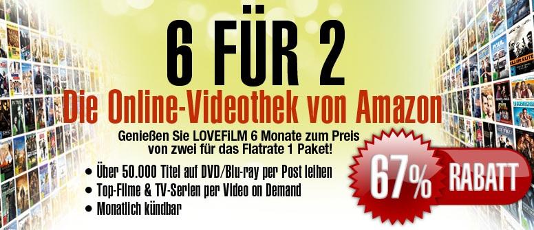 6 Monate Lovefilm nur 24€