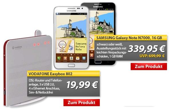 OHA Deals! (SAMSUNG Galaxy Note N7000 (B Ware) & VODAFONE Easybox 802)