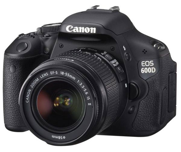 Canon EOS 600D Kit 18 55 mm für 471,23€   18MP DSLR mit IS II Objektiv