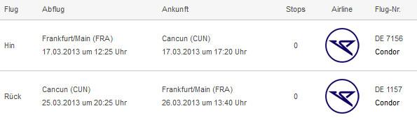 Hin  und Rückflug: Frankfurt nach Cancun für 359€