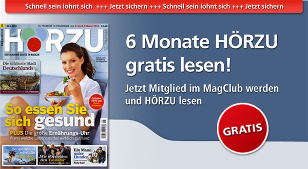 6 Monate gratis HÖRZU lesen   Abo mit 26 Ausgaben