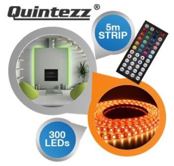 5 m LED RGB Flexkit: Quintezz mit Fernbedienung inkl. Versand 55,90€
