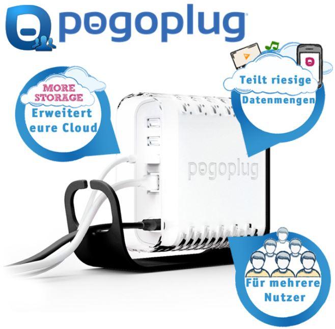 Pogoplug Business   mini NAS mit internet Sharing für Familien und Unternehmen, inkl. Versand 35,90€