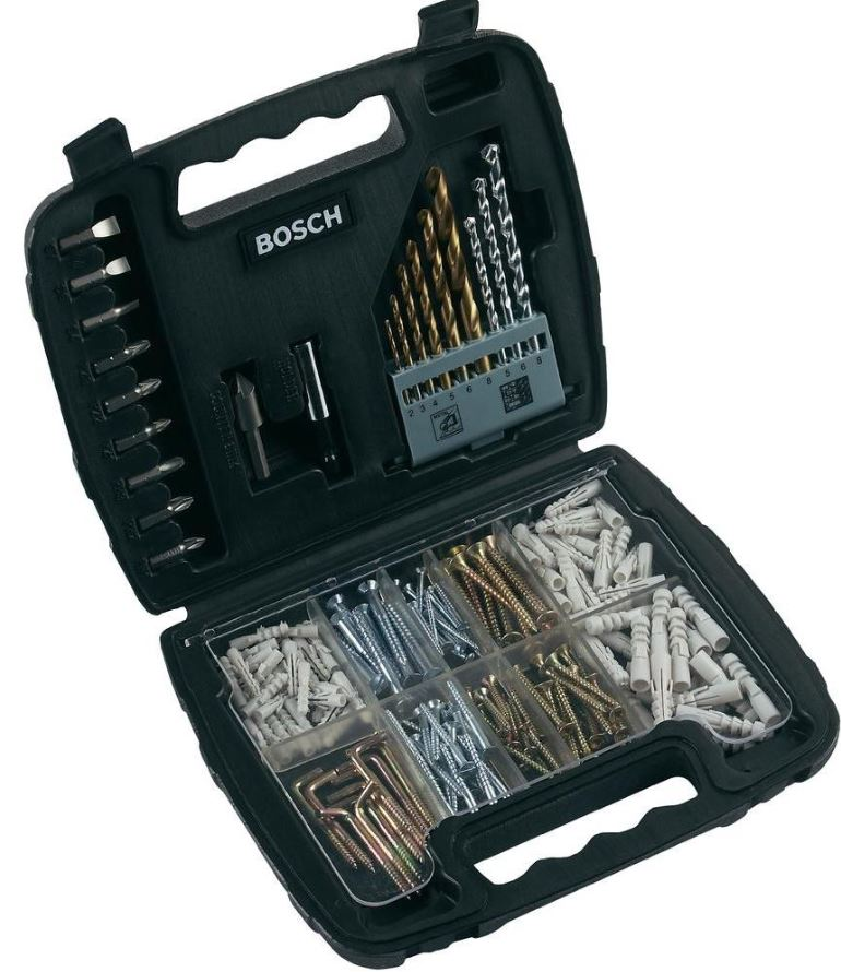 Bosch 200 tlg. Mixed Titanium Bohrer Set & Bosch 50 tlg. Gürteltasche Bohrer Bit Set je inkl. Versand 12,99€