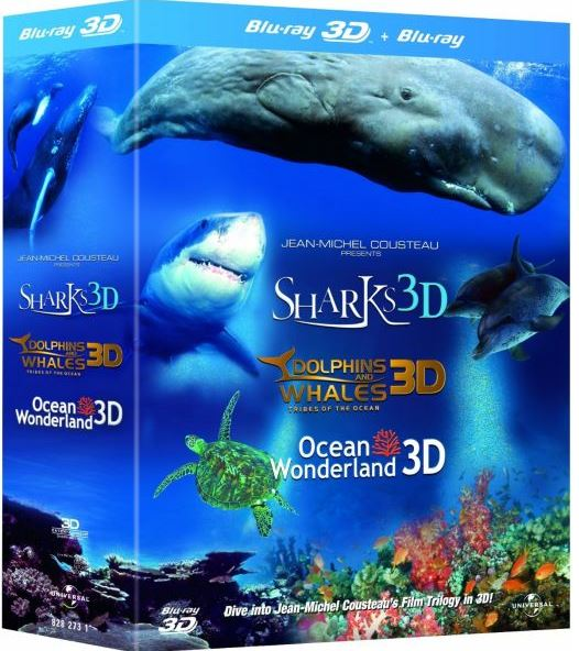 3D Blu ray, Jean Michel Cousteaus Film Trilogy Oceans Wonderland für ~9€