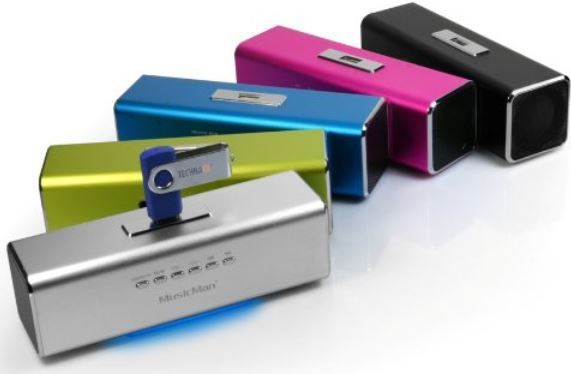 MusicMan MA Lautsprecher (MP3 Player, Soundstation & Radio, USB, Line In) in silber, inkl. Versand 17,99€