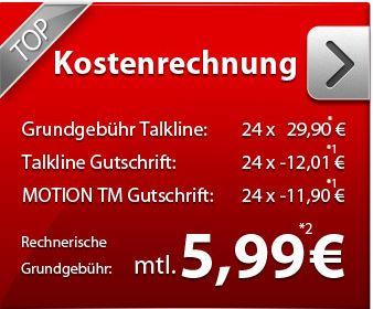 Vodafone 2er Flat Vertrag mit InternetFlat und 3000SMS für nur 5,99€ monatlich!