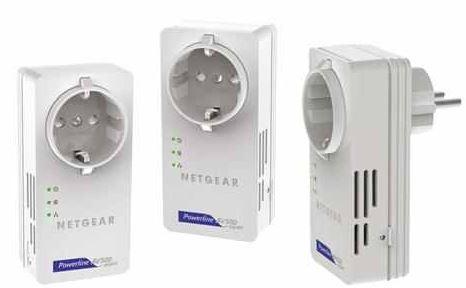 3er Set Netgear 500Mbit Powerline Kit mit Steckdose inkl. Versand 79,90€ (Vergleich 183€)