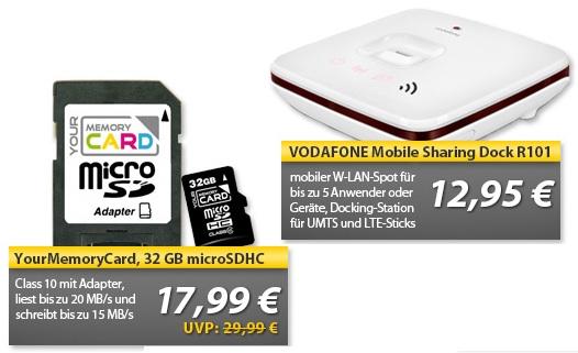 VODAFONE Mobile Sharing Dock R101 & 32 GB microSDHC Class   OHA Deals von MeinPaket