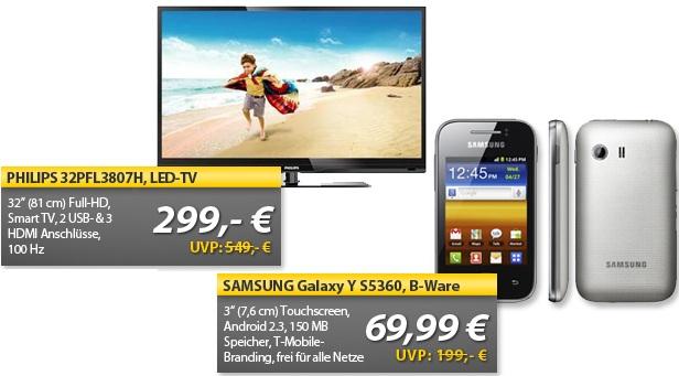 OHA Deals! (SAMSUNG Galaxy Y S5360 (B Ware) & Philips 32PFL3807H 32 TV)