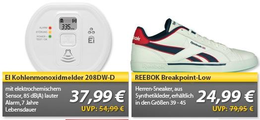 EI Kohlenmonoxidmelder 208DW D & REEBOK Sneaker   OHA Deals von MeinPaket