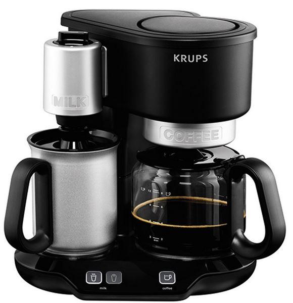 krups km3108 cafe latte kaffeemaschine mit integriertem milchaufsch umer f r 69 99. Black Bedroom Furniture Sets. Home Design Ideas